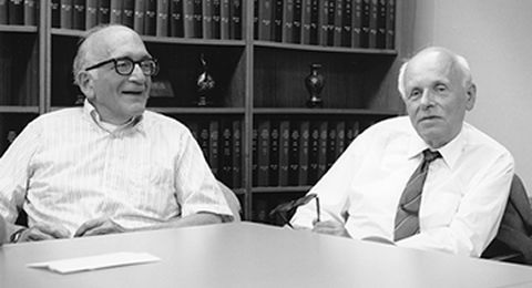 Sidney Drell and Andrei Sakharov at Stanford, 1989