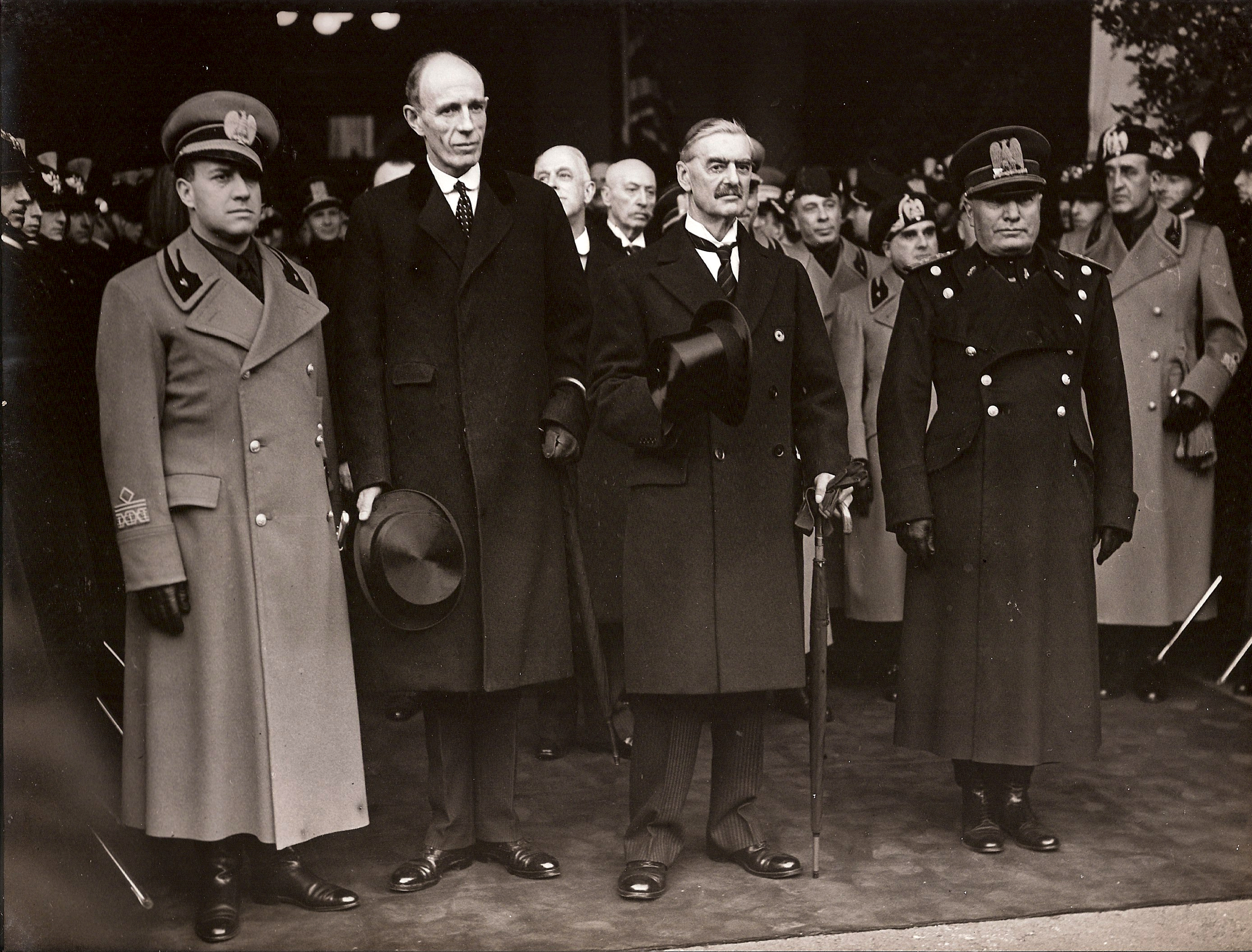 when chamberlain met mussolini  photographs from fascist