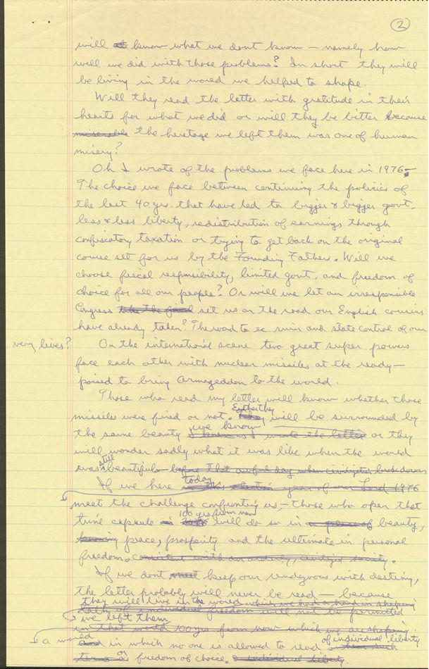 Ronald Reagan's Handwritten Page 2