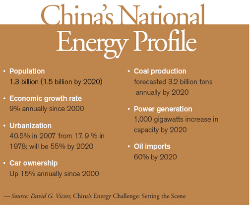 China's energy policy 2020