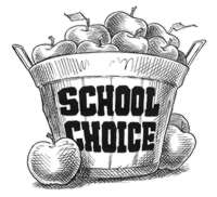 School Choice basket of apples.