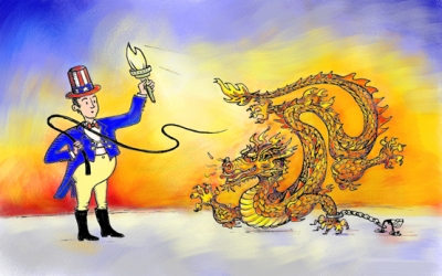 America and China as rising powers