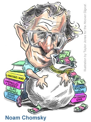Caption Noam Chomsky, Closet Capitalist, by Peter Schweizer, Hoover Institution, 30 January 2006. Image source hoover.org
