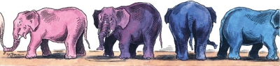 Blue Shift - Republican elephants changing to blue