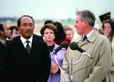 Egyptian President Anwar Sadat in 1980