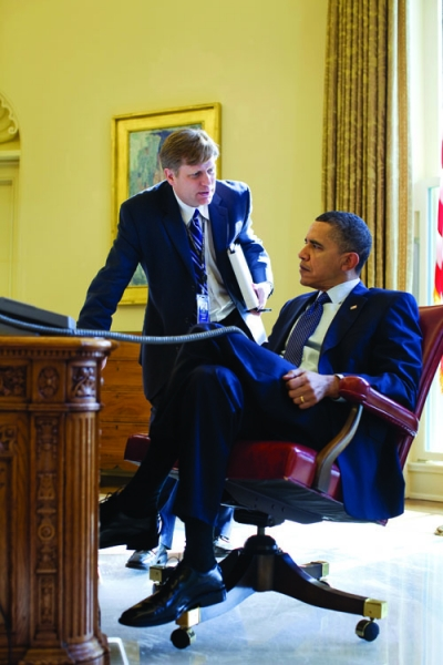 Michael McFaul briefs President Obama