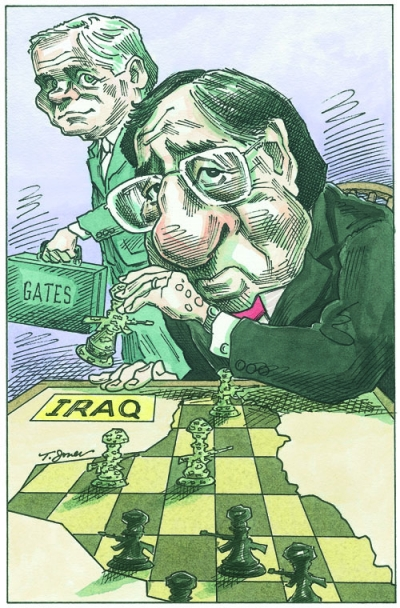 Iraq and Gates chess game