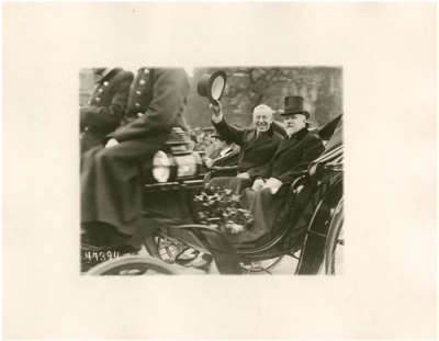 President Woodrow Wilson and French President Raymond Poincaré