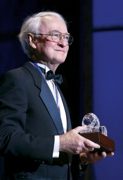 James Q. Wilson accepting the Bradley Prize in 2007