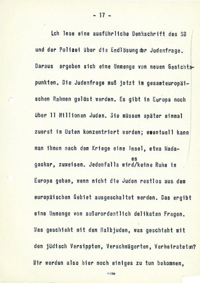 passage from the 1942–43 Goebbels diaries