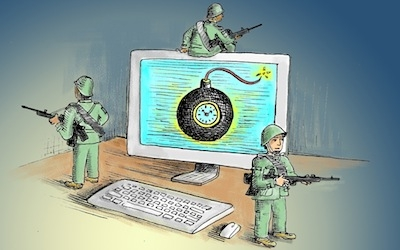 cyber war with China